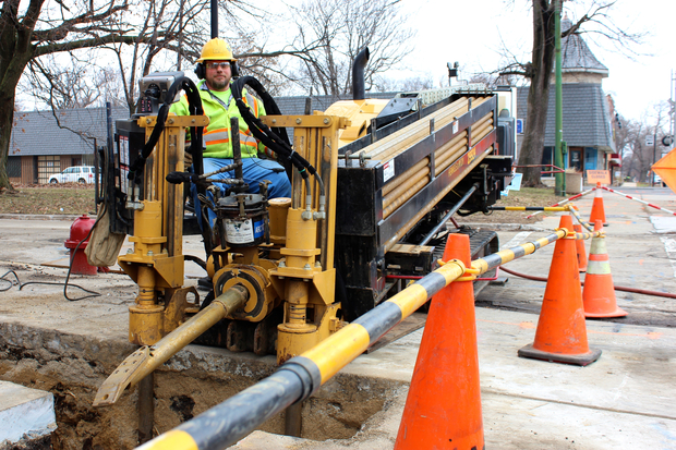 The 33rd Ward's  new interactive infrastructure map shows upcoming projects, including water and gas main replacements.