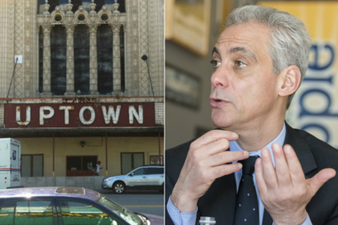 Mayor Rahm Emanuel says work toward promoting Uptown as a music destination has started with new L stations and monthly music and theater fest called Uptown Saturday Night.