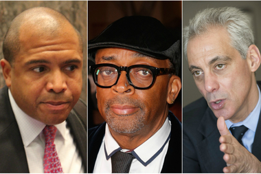 Ald. Will Burns (from l.)  says if New York filmmaker Spike Lee wants $3 million film industry tax credit, the public should have a say in film's title,