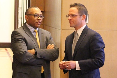 Aldermen Howard Brookins Jr. and Joe Moreno, sponsors of the original reparations ordinance, cheered Tuesday's compromise.