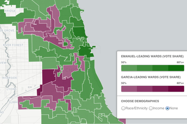 Chicago 2015 Election Live Results Map Shows How Rahm Won