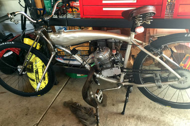 Ricardo Capistrano's bike was recovered by his brothers, and is seen here with damage after the accident.