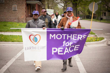 Mothers from the Englewood community will visit a mural and participate in a peace march on May 9, 2015.