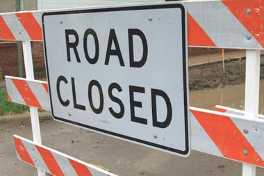 Westbound Talcott Avenue will be closed this week, officials said.