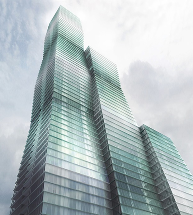 Take a look at the latest renderings of what would be the third-tallest building in Chicago: Wanda Tower.