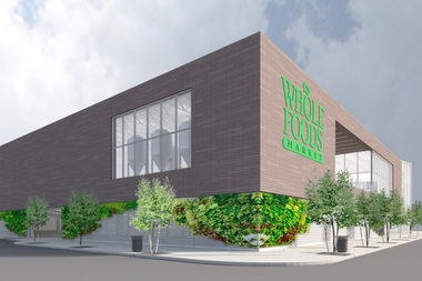 The planned Whole Foods Market in West Lakeview would be the city's second-largest, but residents are concerned the boxy design will be an unattractive addition to the neighborhood.