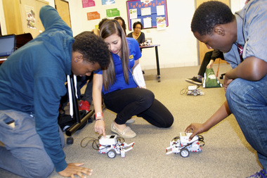 Best Buy's Geek Squad Academy visited the Chicago High School for Agricultural Sciences on Tuesday. After winning an online challenge, students were treated to courses in 3D printing, LEGO robotics, digital music and digital citizenship.