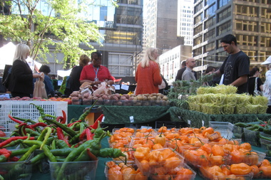 Daley Plaza is one of several farmers market sites throughout the city.