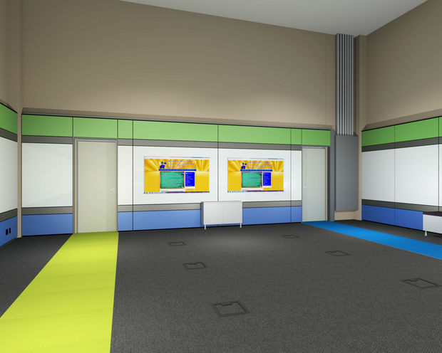 The Uptown school, 4140 N. Marine Dr., is redesigning the lab to include glass walls and interactive white boards.