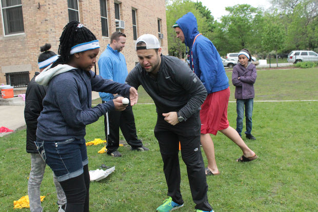 Students, volunteers and staff of Urban Initiatives got together for the 1st Annual Lawndale Field Day fundraiser Saturday at Lawndale Community Academy