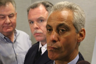 Backed by Police Supt. Garry McCarthy, Mayor Rahm Emanuel called for more community involvement and stronger gun laws to combat street violence.