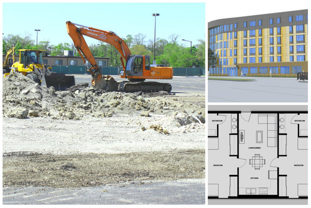 Northeastern Illinois University has broken ground on the school's first-ever residence hall, aiming for fall 2016 occupancy.