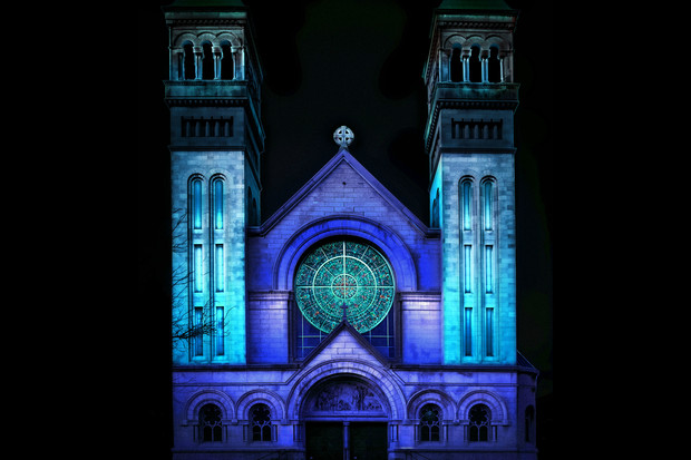 St. Vincent de Paul Church will be lit up for three nights starting Wednesday.
