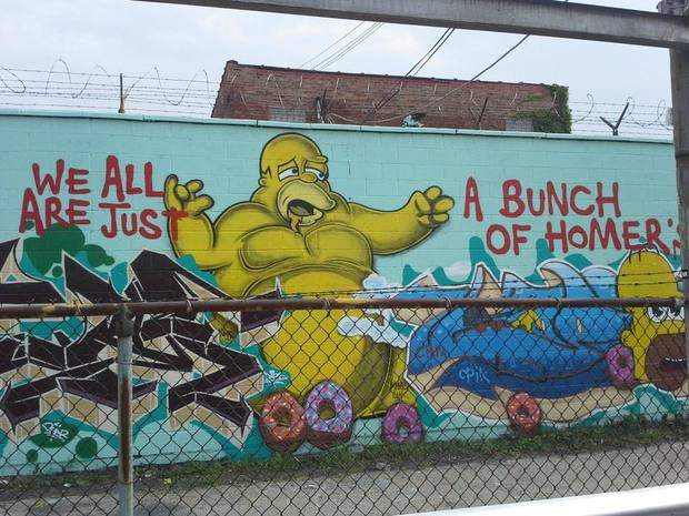 Chicago is obsessed with 39 the simpsons 39 and here are pics for Chicago mural project