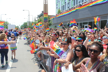 Thousands of parade attendees lined Halsted Street during the 46th annual Chicago Pride Parade in Boystown on Sunday, June 28, 2015.