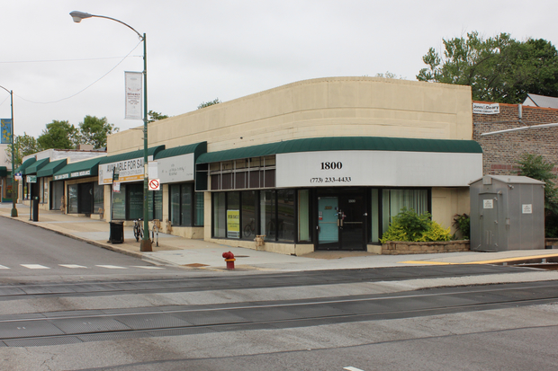 A proposed Advance Auto Parts store is expected to be built adjacent to the 95th Street Metra train station in Beverly. This series of vacant storefronts would be torn down to make way for the new business.