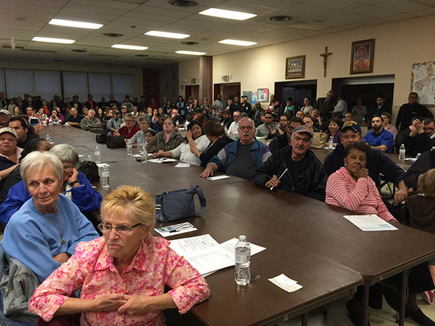 A May 4 meeting with Agri-Fine officials drew more than 200 residents to Sacred Heart Church.