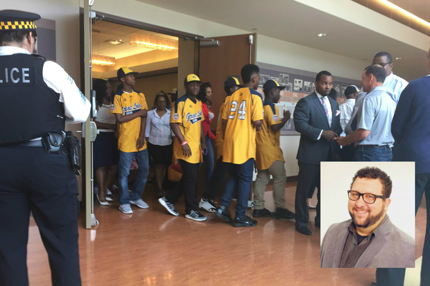 DNAinfo writer at large Mark Konkol was barred from a Jackie Robinson West Press conference.