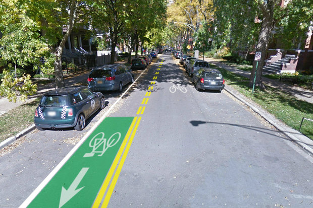 A new bike lane will pop up on Glenwood Avenue in Edgewater this week, taking southbound cyclists in the opposite direction of northbound drivers.