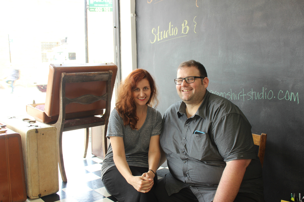 Owners of Green Shirt Studio, Sommer Austin (l.) and Andrew Gallant.