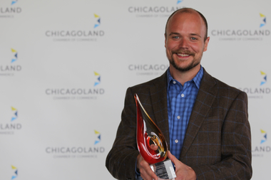 Neil Byers, owner of Horse Thief Hollow, won the 2015 James Tyree Emerging Business Leadership Award on Tuesday from the Chicagoland Chamber of Commerce.