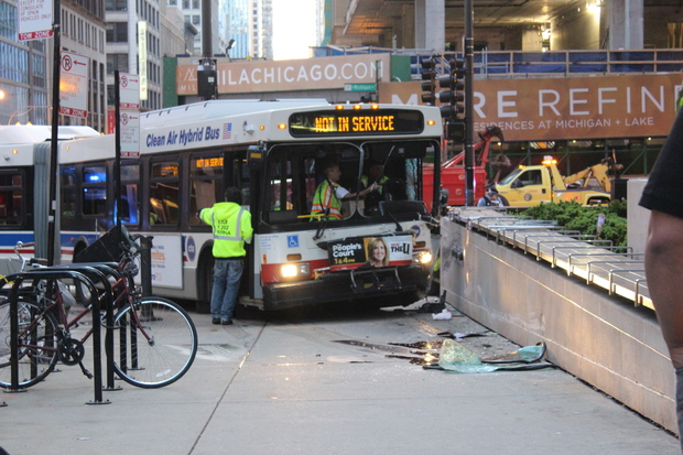 Bus Driver Ran Red Light in Michigan Avenue Crash That