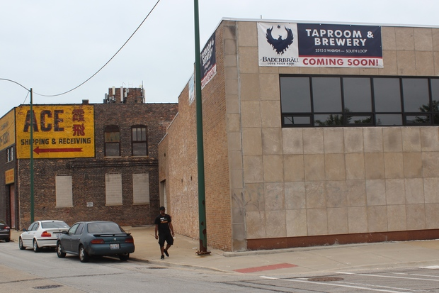 A look at Baderbrau brewery, 2515 S. Wabash Ave., while it was under construction last year.