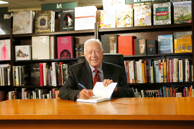 Former President Jimmy Carter will sign copies of his memoir on July 24 at the Seminary Cooperative.