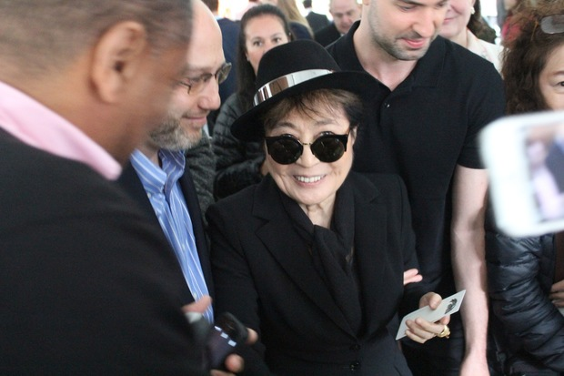 Yoko Ono helped unveil the site of her new