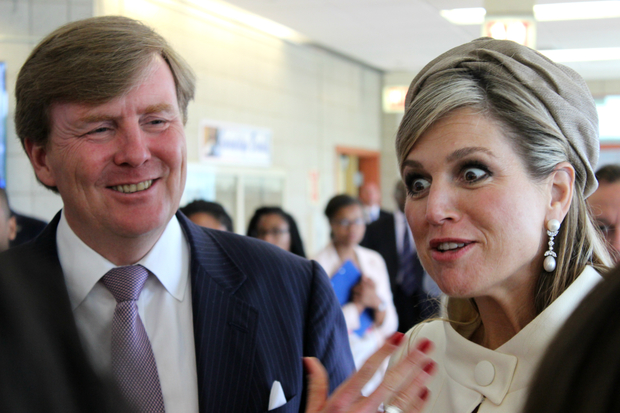 King Willem-Alexander and Queen Maxima of the Netherlands toured Gwendolyn Brooks College Prep.