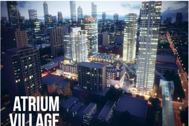 The Atrium Village Development will include 1,500 housing units.