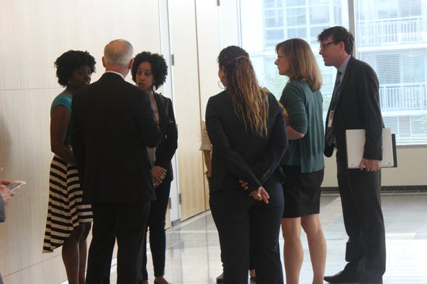 After the board meeting, Kara Crutcher and Jaime Schmitz met privately with CTA officials.