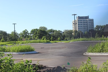 Englewood Square lot in July.