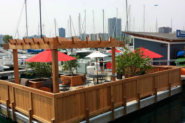Freedom Boat Club Chicago's new floating dock,