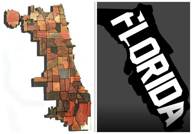 Chicago Neighborhood Map Often Confused As State Of Florida - Chicago neighborhood map art