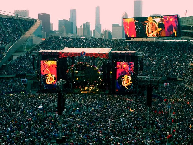 The Grateful Dead concert at Soldier Field on July 4.