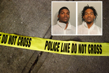 Jerome Fizer (l.) and Darryl Wilson (r.), both 22, were charged with robbery of a person over the age of 60.