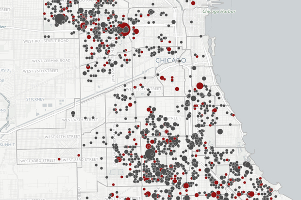 Where Shootings Have Occurred in Chicago Since 2010 (MAP) - Woodlawn on map of chicago bad neighborhoods, map of chicago red light districts, map of chicago traffic,