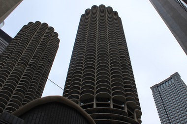 The Commission on Chicago Landmarks gave landmark status to the Marina City towers.