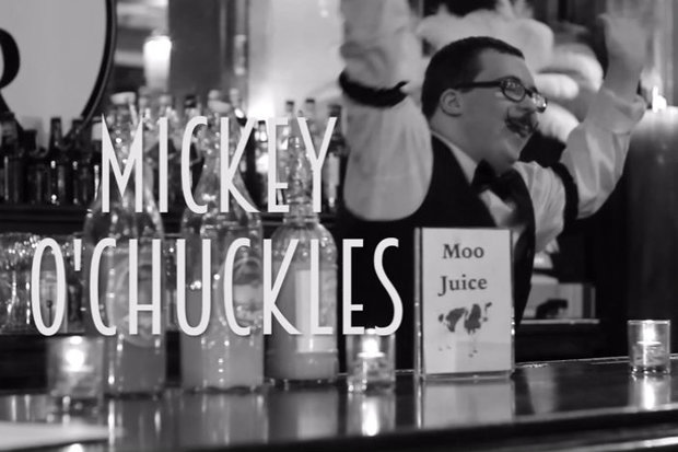 Sam Petri plays Mickey O'Chuckles in