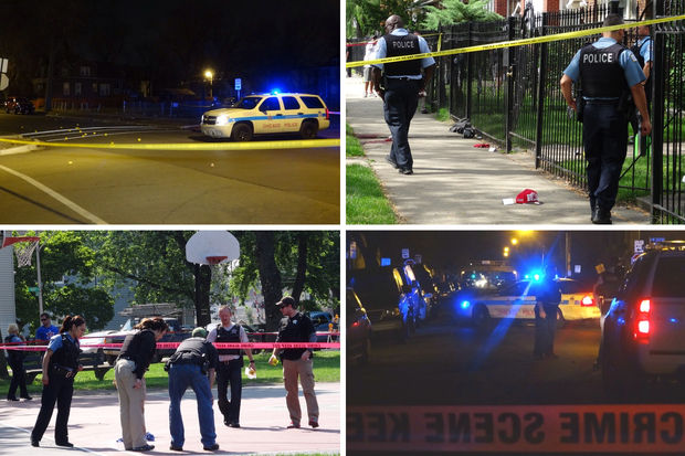 Scenes from shootings in Chicago in July 2015.