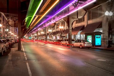 A rendering of the completed Wabash Lights.