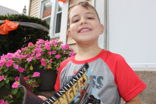 Anthony Pappalas, 5, of Mount Greenwood was diagnosed with a rare brain cancer on July 24. Since then, friends and neighbors have started Anthony's Avengers. The group has hung gray and orange ribbons throughout the area as a show of support.