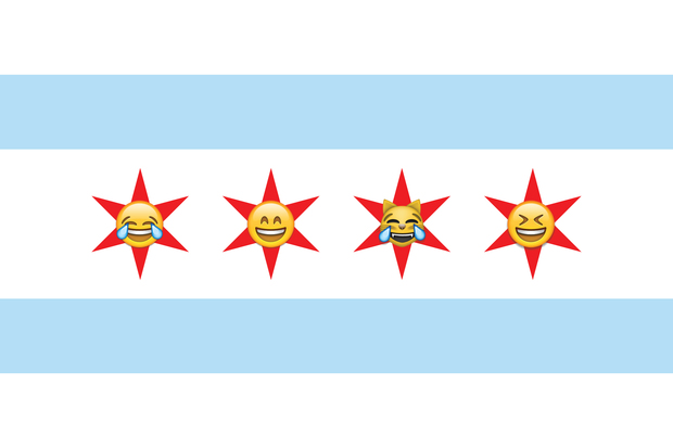 On Facebook, Chicagoans tend to express their laughter more through emoji than through text.