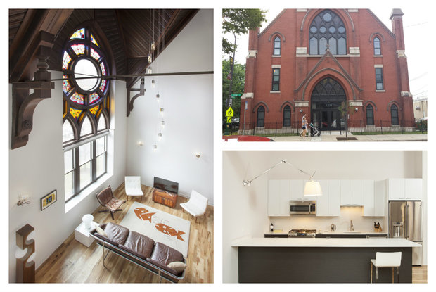 just restored wicker park church apartment conversion already up for sale wicker park. Black Bedroom Furniture Sets. Home Design Ideas