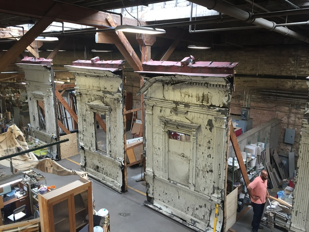 The former CTA station at Madison and Wabash was removed and reassembled, in hopes it will find a new home in a museum. Other pieces will be auctioned off Friday.
