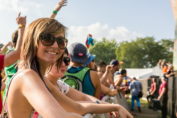 A festival goer at the 2013 North Coast Music Festival.