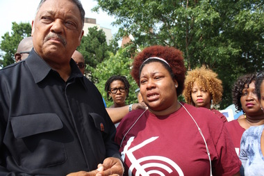 Rev. Jesse Jackson Sr. on Tuesday joined a hunger strike by 12 activists calling on CPS to make a decision about the future of Dyett High School
