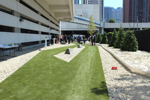 The New K2 Dog Park In West Loop Includes A Grassy Area And Gated Gravel Dnainfo Stephanie Lulay