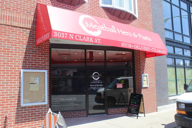 Meatball Hero and Pasta opened July 6 just south of Clark, Halsted and Barry and offers meatball stuffed sandwiches, pasta and salads.